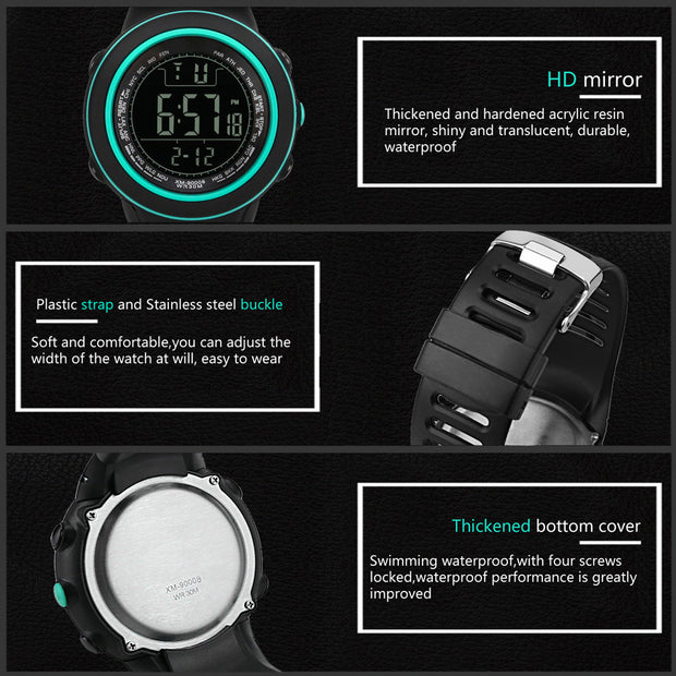 Luxury Sports Watch Men Analog Digital Military Silicone Army Sport LED Waterproof Wrist Watches Men Relogio Masculino For Gifts