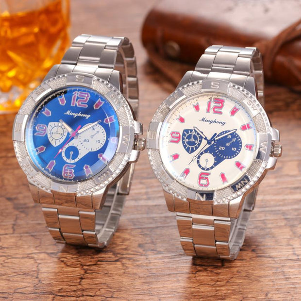 Luxury Watches Men Man Rreloj Hombre Golden Hollow Watch Clock Fashion Stainless Steel Watch For Men's Quartz Analog Wrist Watch