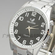 METAL Orlando Men Watch Wristwatch Business Stainless Steel Man Watch Analog Quartz New Fashion