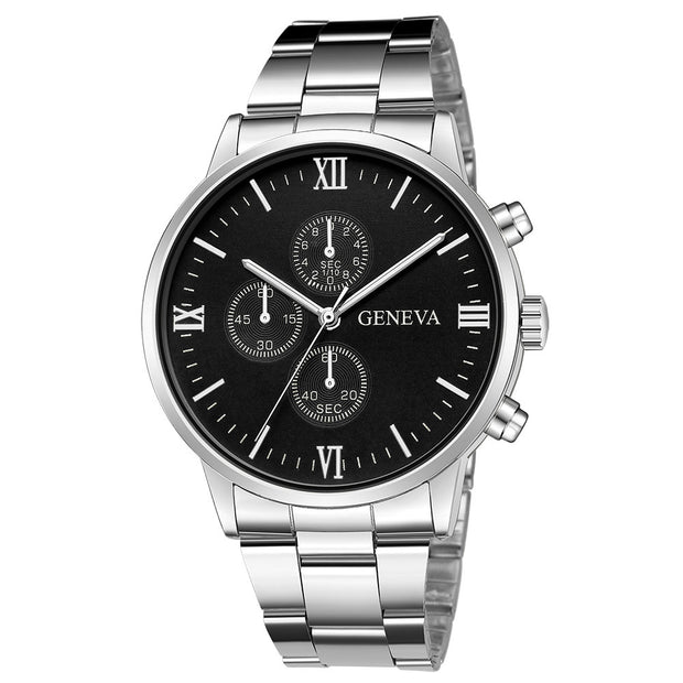 Male Fashion Stainless Steel Quartz Analog Date Wrist Watch Sport Clock Otomatik Erkek Kol Saati