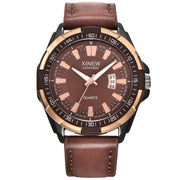 Male Luxury Men's White Automatic Mechanical Date Day Leather Band Sports Style Business Wristwatch Gift Dress 4a