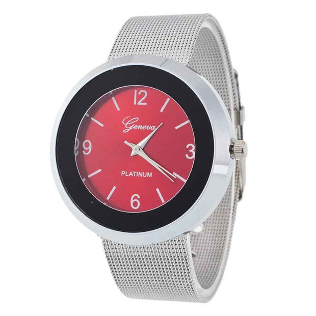 Men Time Fine Watch Strap Stainless Steel Analog Simple Clock Dial Watch Wholesale Feida