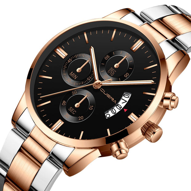 Men Watches Men Fashion Military Stainless Steel Analog Date Sport Quartz Wrist Watch Bracelet Wrist Watch Erkek Kol Saati