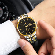 Men Watches New ORLANDO Fashion Quartz Watch Men's Silver Gold Plated Stainless Steel Wristwatch Masculino Relogio Drop Shipping