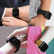Men/Women Classic Leather Band For Apple Watch 44/42/40/38mm Bracelet For IWatch Series 4 Watchband Clock Strap Accessories