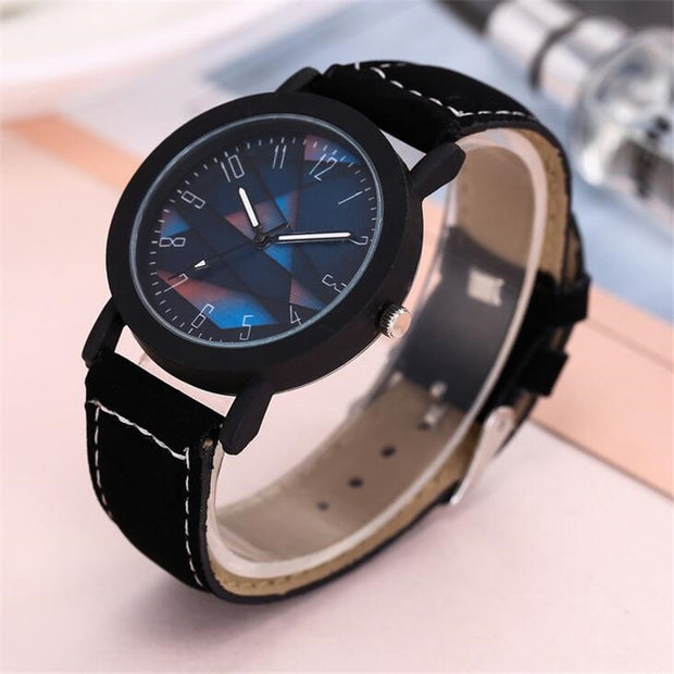 Men's Creative Digital Punk Casual Sports Leather Watch