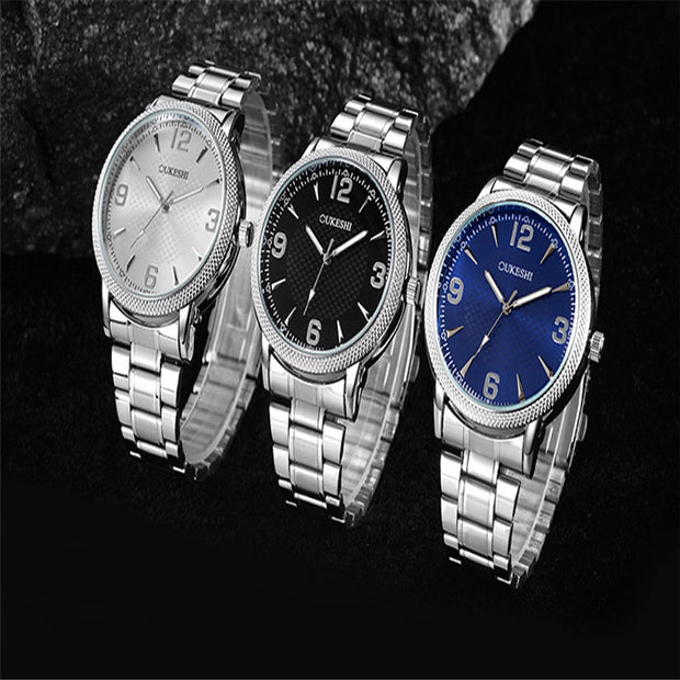 Men's Fashion Casual Quartz Wristwatch Male Simple Style Quartz Wristwatch Gift Business Full Dress Horloges Mannen 4a