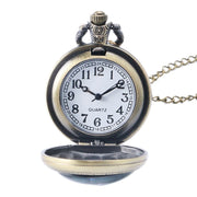 Men's Pocket Watch, High Quality Bronze Classic Quartz Pocket Watches, Men Women Gift
