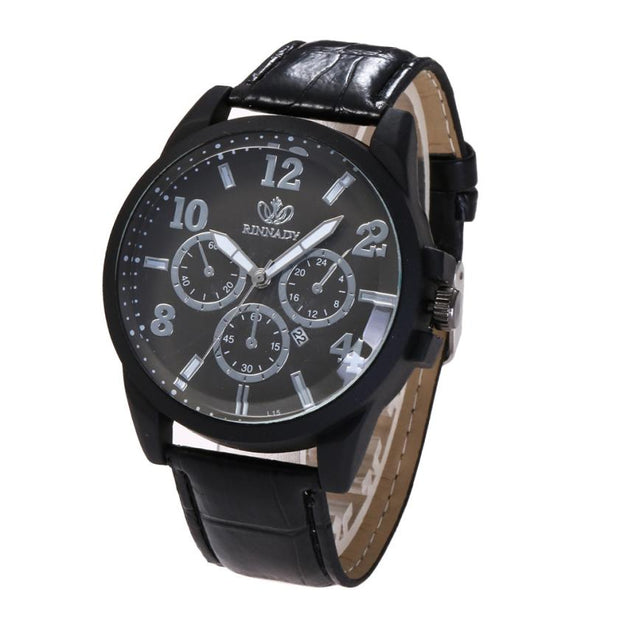 Men Watches Casual Business Wristwatch Leather Band Analog Quartz Round Wrist Watch Watches 2018 Male Clock Fashion Reloj Hombre