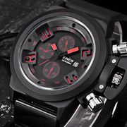 Mens Fashion Silica Sport Date Chronograph Analog Quartz Wrist Watch Waterproof Military Dial Relogio Masculino #D1226