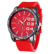 Mens Stylish Luxury Huge Big Dial Silicone Band Quartz Wrist Watch Sports Watch Men's Clock Relogio Masculino Watch Men Sport