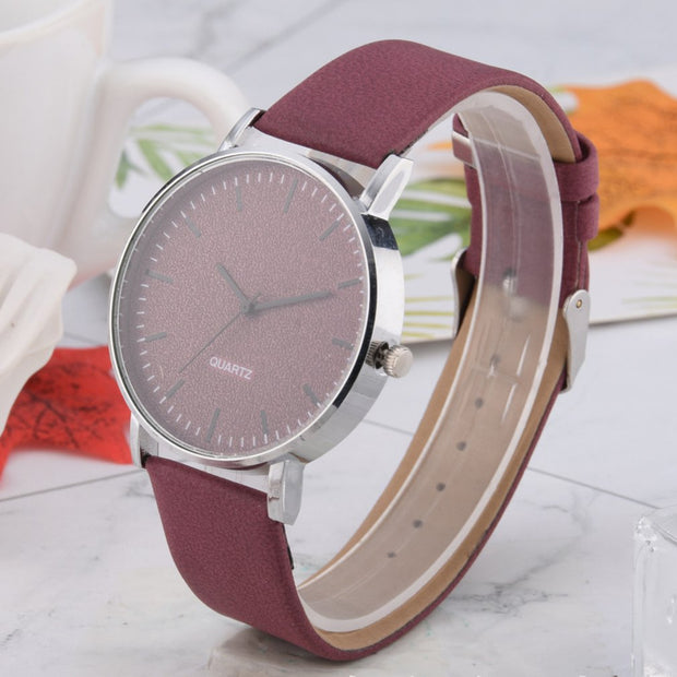 Mens Woman WristWatches Fashion Business Stylish And Simple Temperament Belt Watch Quartz-Watch Leather Strap 2019