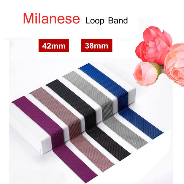 Milanese Loop Strap For Apple Watch Band 40mm 44mm 42mm 38mm Correas Iwatch 4 3 2 1 Stainless Steel Metal Watchband Bracelet