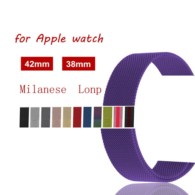 Milanese Loop For Apple Watch Band 42mm 38mm Stainless Steel Correa Iwatch Strap Bracelet 3/2/1 Link Watchband Wristwatch Belt