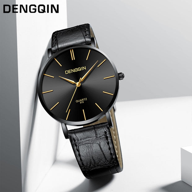 Montre Femme 2019 Luxe Luxury Quartz Sport Military Stainless Steel Dial Leather Band Wrist Watch