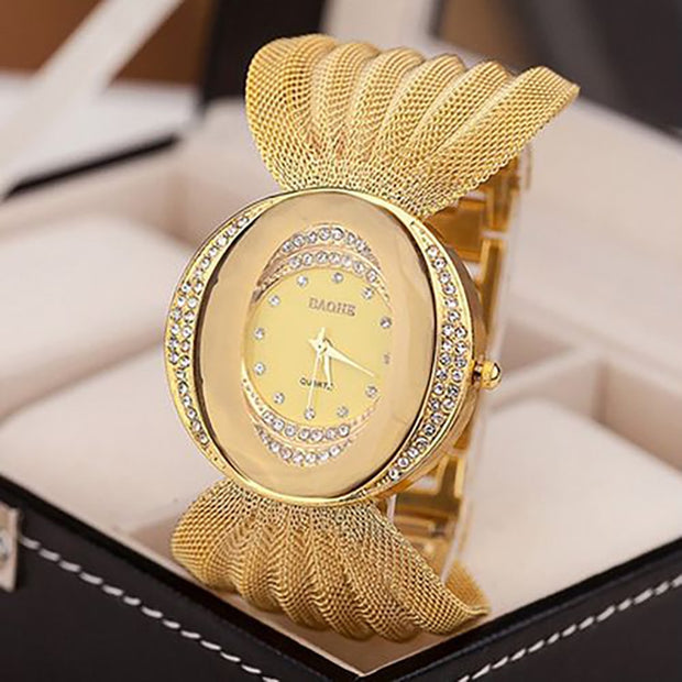 National Style Bangle Wristwatch Handmade Braided Multiful Color Wristwatches For Women Casual Quartz Wrist Watch