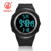 New 2019 OHSEN Brand Fashion LCD Digital Mens Wristwatch 50M Waterproof Sports Black Military Hand Male Clocks Relogio Masculino