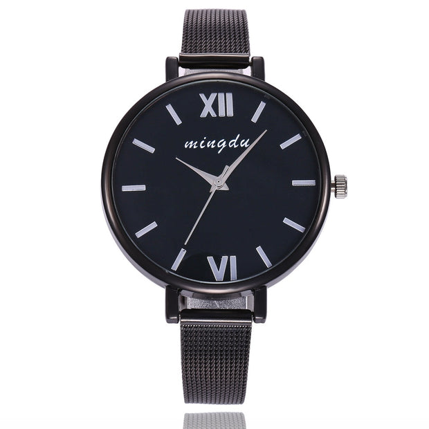 New Arrival Casual Womens Watch Fashion Simple Scale Ladies Watch Korean Version Mash Quartz Watch Relojes De Mujer