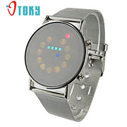 New Arrive Digital-watch Men LED Sports Watches Fashion Outdoor Men Stainless Steel Wristwatches Male Clock #30 Gift 1pcs