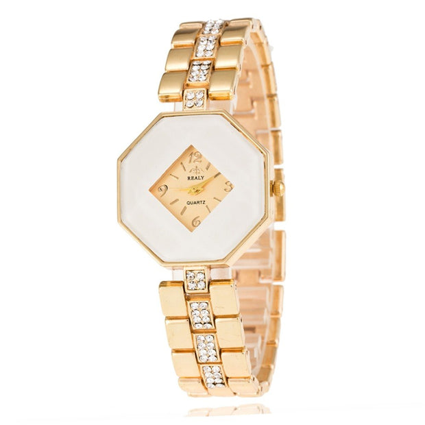 New Famous Brand Luxury Crystal Ceramic Dial Bracelet Quartz Wrist Watch With Rhinestone Christmas Gift For Ladies