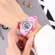 New Fashion Casual Sports Student Women Silicone Digital Electronic Wrist Watch