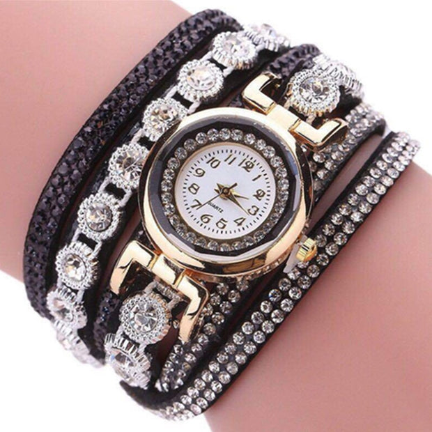 New Fashion Ladies Watches Leather Women Diamond Exquisite Clock Female Bracelet Luxury Gifts For Girl Unique Relogio Feminino