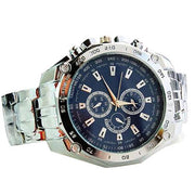 New Fashion Men Stainless Steel Quartz Analog Sport Wrist Watch Father's Day Gift