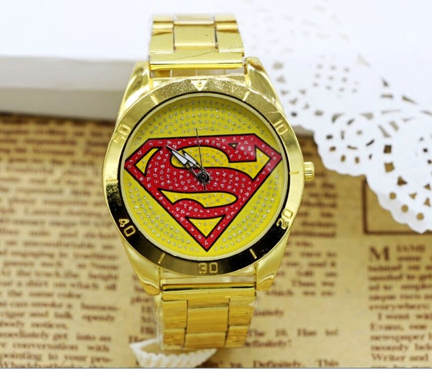 New Fashion Superman Watch, Sports Watches,Couple Christmas Gifts Men And Women Quartz Military Watch