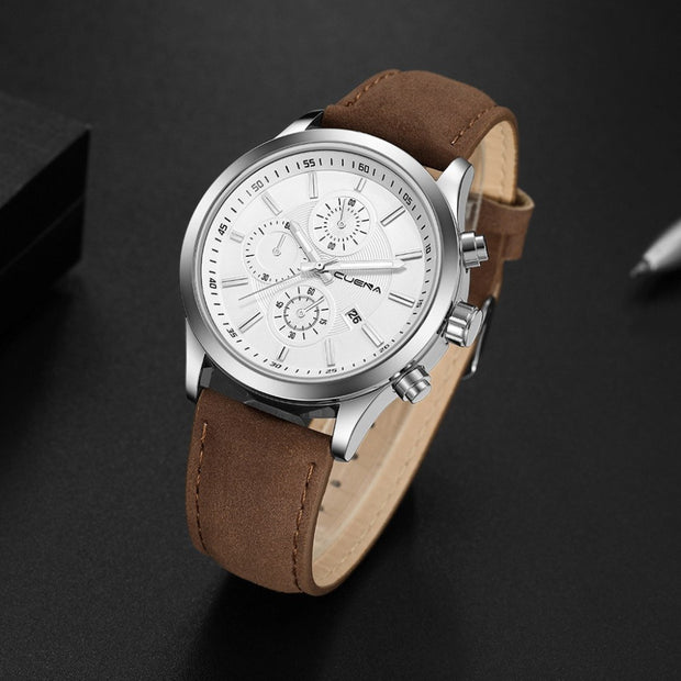 New Fashion Luxury Brand Casual Gold Silver Women Watches Women Leather Band Quartz Analog Wrist Watch A40