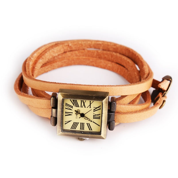 New Genuine Cow Long Leather Vintage Female Quartz Watch Roma Digital Watch Women Dress Watch Square Relogio Feminino Saat Gifts