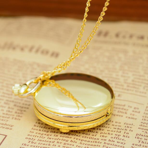 New Sailor Moon Animation Cartoon Fashion Quartz Necklace Woman And Girl Gift Pocket Watches