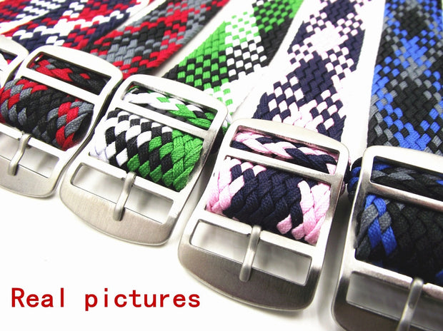 New Arrived Hot 1PCS 20MM Nylon Straps Perlon Straps Weave Straps Watch Strap Watch Band Colorful Color -PS004