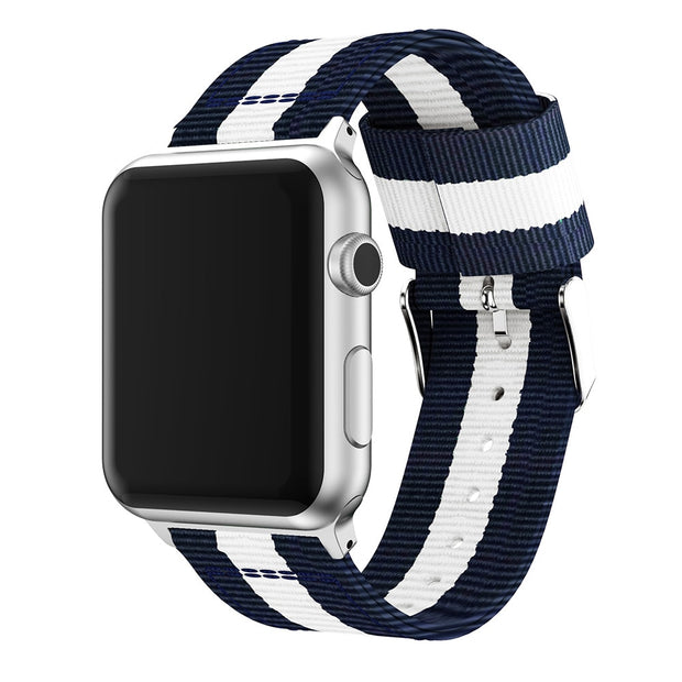 Nylon Watchband For Apple Watch Band Series 4/3/2/1 Sport Leather Bracelet 42 Mm 38 Mm Strap For Iwatch Band 44mm