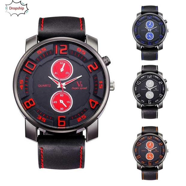 OYOKY 1PCS Fashion Men's Thin Silica Gel Students Sports Quartz Watch So Cool 18Oct5