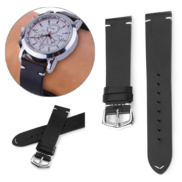 Oil Wax Retro Leather Watch Strap Quartz Sport Smart Watches Strap Band Accessories For Women Men