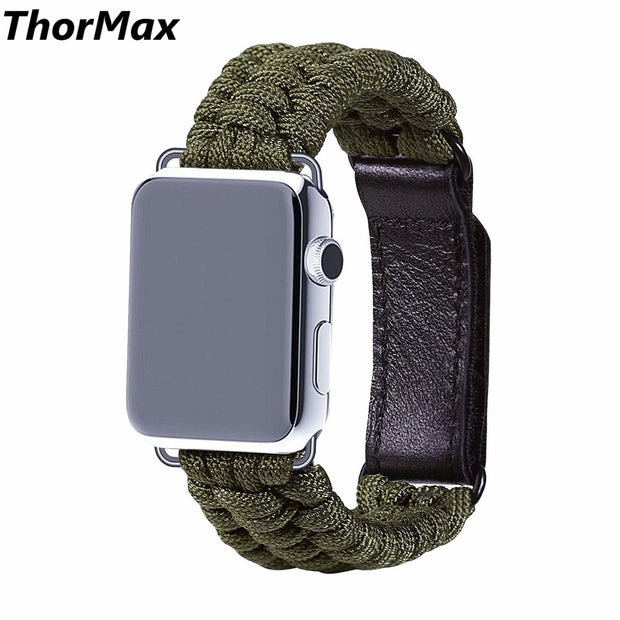 Outdoor Sport Nylon Strap Woven Rope Bracelet Watchband Strap Replacement For Apple Watch 38/42mm Series 1/2 3 ThorMax