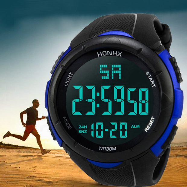 Outdoor Sports Waterproof Digital Watch Men Sports Casual Military LED Watch Electronic Wristwatch Luxury Gifts For Men Boys