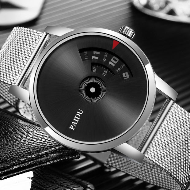 PAIDU Full Steel Watch Fashion Special Design Luxury Elegant Men Women Unisex Quartz Wristwatch Male Clock High Quality Relojes