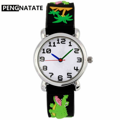 PENGNATATE Children Wristwatches Hot Sale Kids Watch Boys Fashion Gifts Small Cartoon Clock Silicone Strap Bracelet Hand Watches