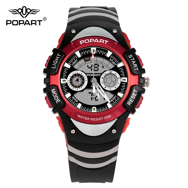 POPART Kids Watches Stopwatch Alarm 50M Waterproof LED Digital Quartz Sport Watch Children Watches For Boys Girls Wristwatches