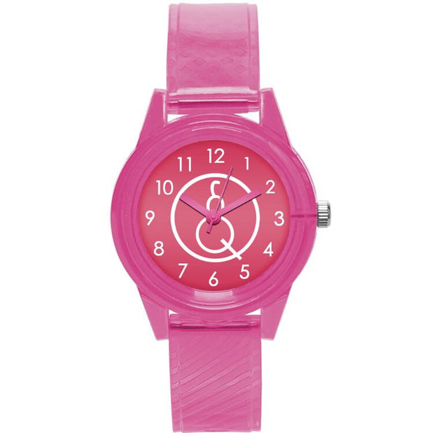 Pink Girl, Character, Watch, Girl Student, Simple, Transparent, Small, Fresh, Lovely, Pink And Delicate Cartoon Watch.