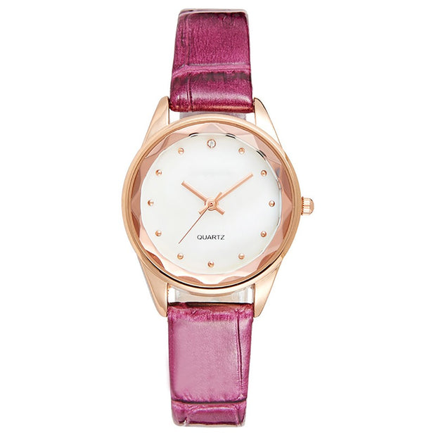 Polygon Bezel Rivet Markers Women Quartz Faux Leather Band Fashion Wrist Watch Dropshipping