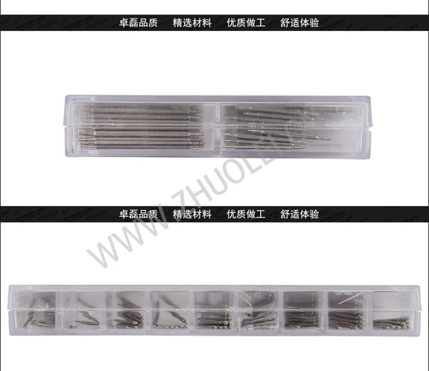 Practical Watches For Parts144 Pcs Stainless Steel Watch Band Spring Bars Strap Link Pins 8-25mm Watchmaker Watch Accessories