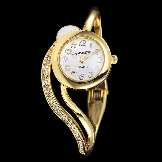Relogio Feminino Diamond Dial Women Watch Rose Gold Silver Wrist Watch Lady Watches Bangle Luxury Quartz Wristwatches Clock Gift