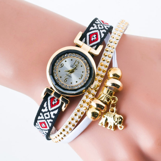 Relogio Feminino Reloj Mujer Korean Velvet Women Fashion Quartz Watch European Style Elephant Casual Student Quartz Wristwatch