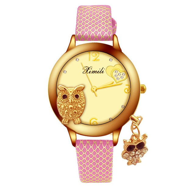 Relogio Feminino Reloj Mujer Montre Creative Hipster Owl Fashion Pattern Strap Ladies Girl Student Lovely Bracelet Cute Watches