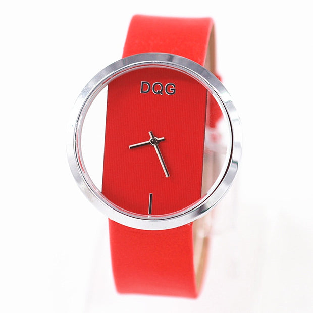 Relogio Feminino Brand Unique Quartz Analog Hollow Leather Woman WristWatch Fashion Ladies Clock Casual Women Watch Female