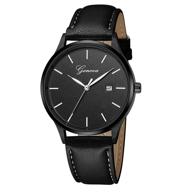 Relogio Masculino Military Men's Fashion Simple Sport Stainless Steel Case Leather Band Quartz Analog Wrist Watch Erkek Saat