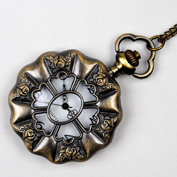 Retro Palace Wind Large Lotus Leaf White Pocket Watch Supply Fashion Antique Watch