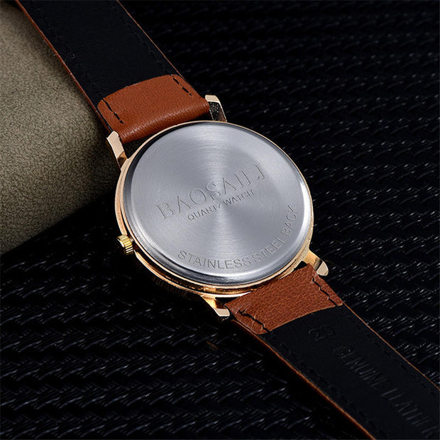 Romantic Female Watch Love Women's Watches 38mm Simple Quartz Clock Women Leather Watchband Waterproof Girl Lady Reloj Brand A W